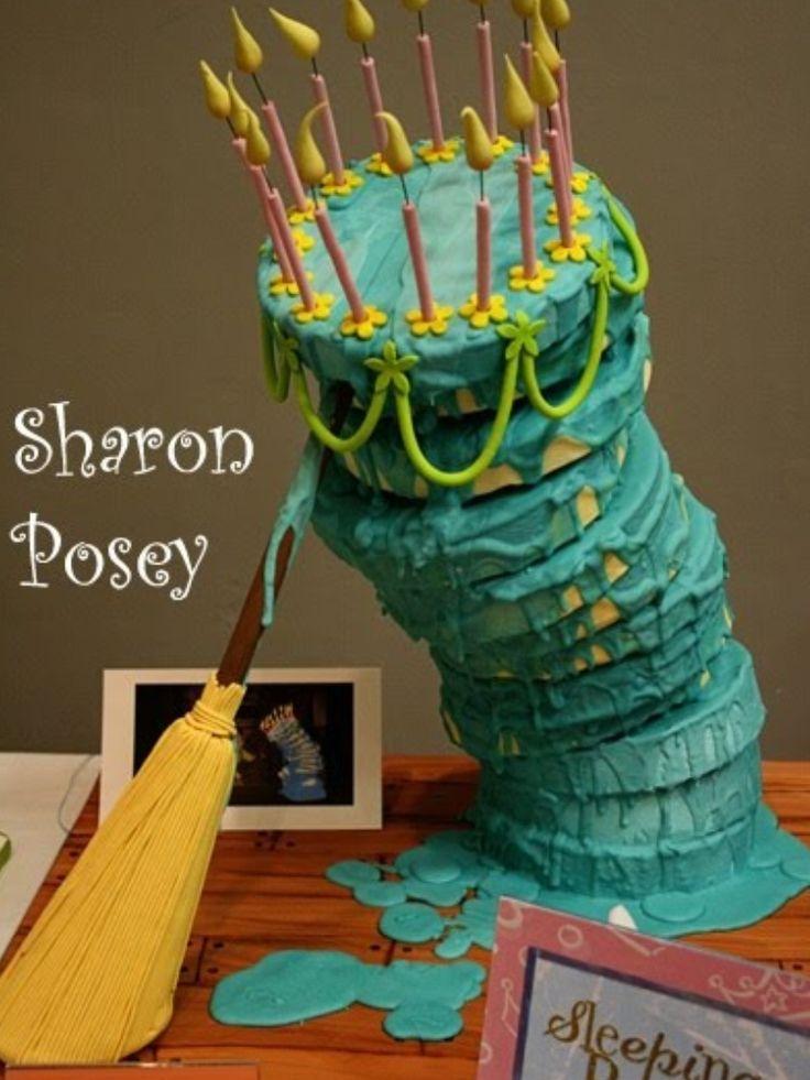Sleeping beauty cake! Love thus! Soooo creative!,