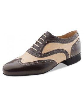 Chaussures de danse marron et gris, Quito Nueva Epoca en cuir