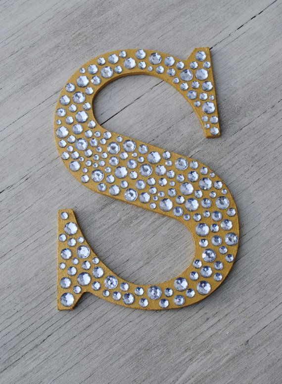 9 sparkle gold bling decorative wall letters wedding for Alphabet decoration