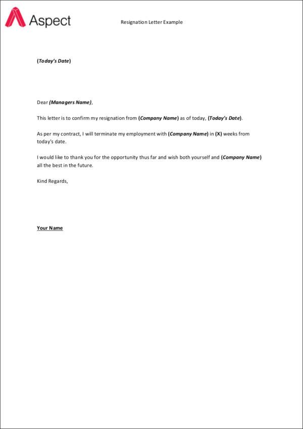 Fresh Resignation Letter Example Download Http Letterbuis Com Fresh Resignation Letter Example Do Resignation Letter Sample Resignation Letter Letter Example