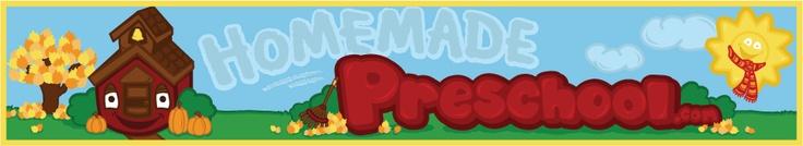 Pre-K ideas  http://www.homemade-preschool.com/Lesson-Plans.html