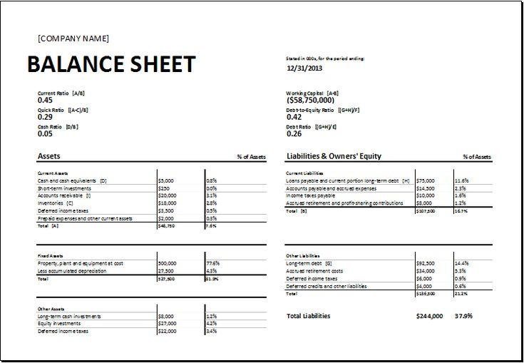 calculating ratio balance sheet DOWNLOAD at http://www.xltemplates.org/calculating-ratios-balance-sheet/