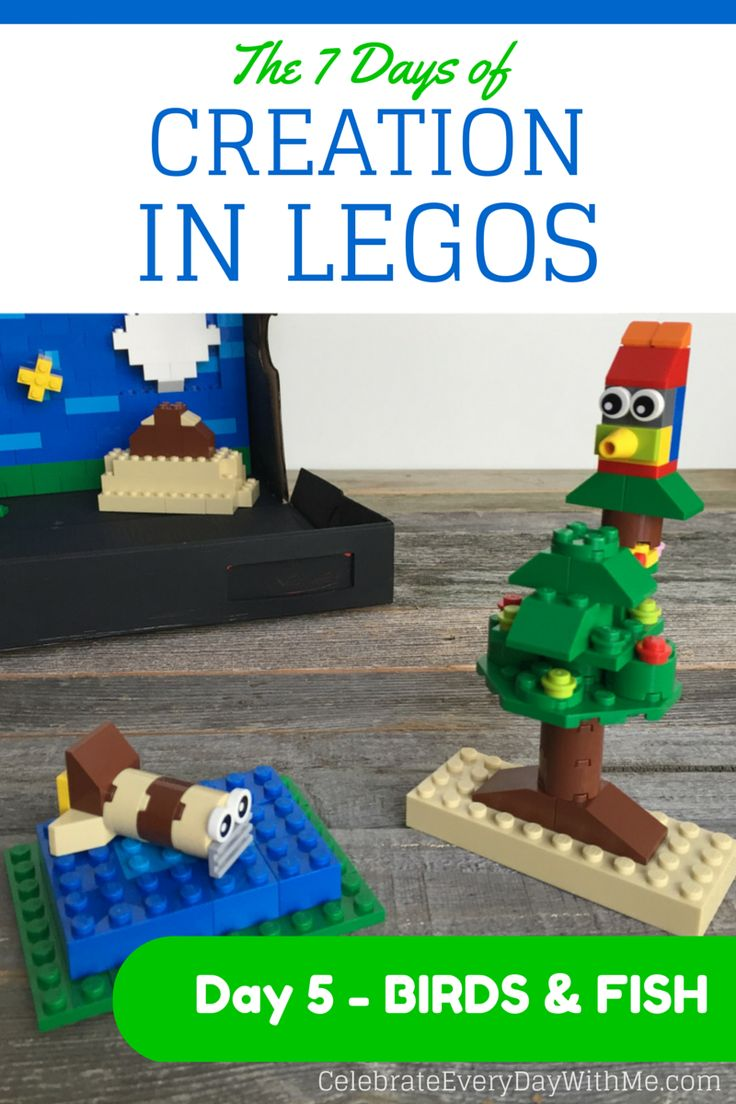 The 7 Days of Creation in Legos {Day 5 – Birds & Fish}