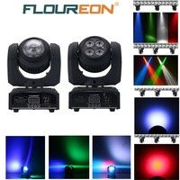 Floureon® 50W Cree LED Moving Head Double Face Led Beam/Wash Stage Light,4 in1 RGBW, for Indoor Club,Disco Party Show, DJ, KTV, Sound Active