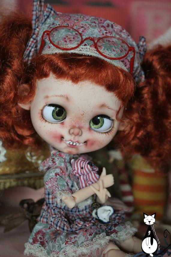 Ooak custom Blythe doll : Miss Totote by heliantas on Etsy