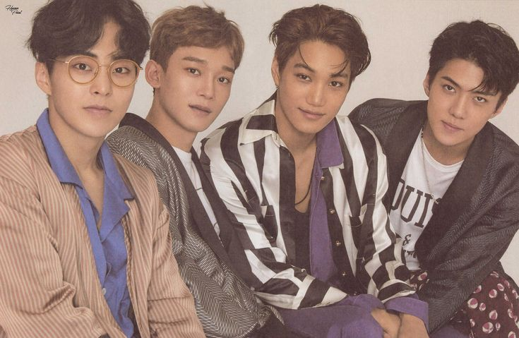 Xiumin, Chen, Kai, and Sehun