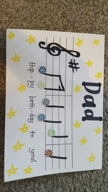 Musical note Dad birthday card