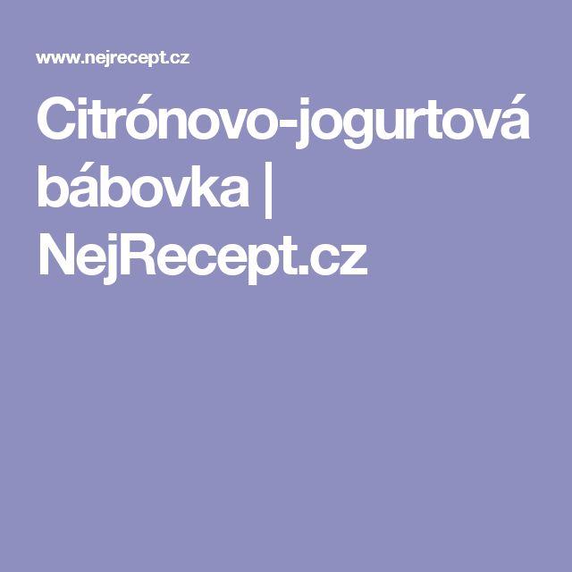 Citrónovo-jogurtová bábovka | NejRecept.cz