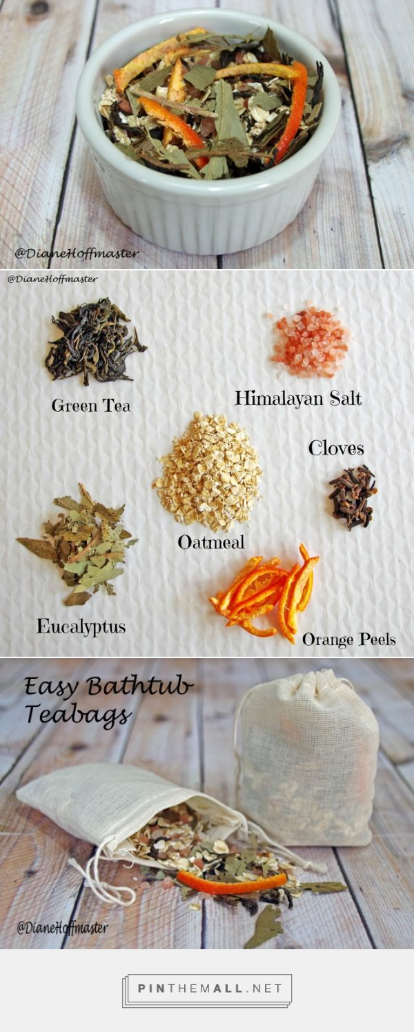 Diy Natural Bathtub Teabags | Sacchetto di essenze naturali per vasca da bagno... Via turningclockback.com #FarmersXmasGifts #Christmas #Gift #Handmade #Homemade #Diy #TeaBag