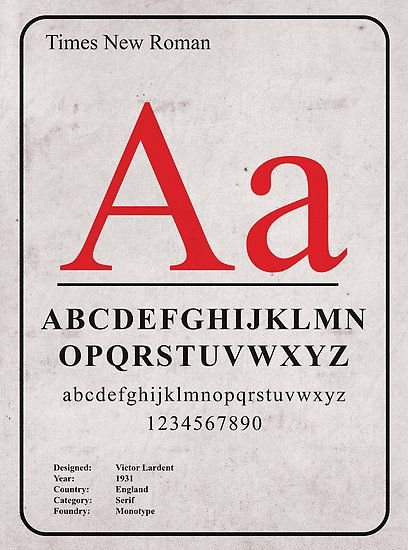 Times New Roman by modernistdesign