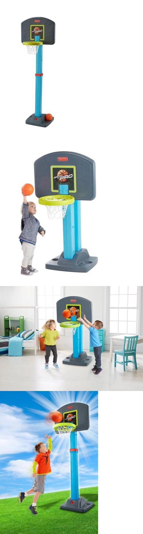 Other Outdoor Toys Structures 11742: Fisher Price Grow-To-Pro Basketball Set, 4 Height Positions Kids Basketball Hoop -> BUY IT NOW ONLY: $38.66 on eBay!