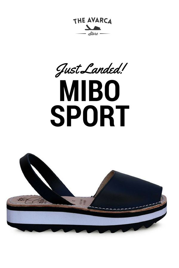 Our women's MIBO sport avarcas menorquinas in black features the same classic look but with an sporty edge with rubber platform sole of aprox 1.5 inch. Handmade in Menorca, Spain; in a family own workshop.