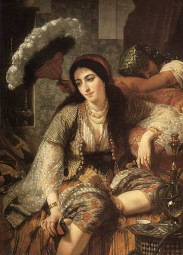 Jean Baptiste Ange Tissier. An Algerian and her slave (1860)'