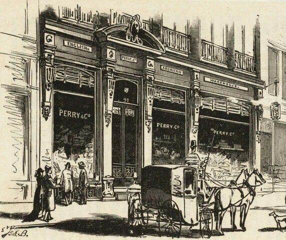 Perry & Co in de Kalverstraat in 1866