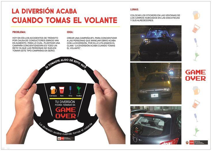 """""""La diversión acaba cuando tomas el volante"""" para el MTC (Carlos Acosta, Diego Bravo, Shirley Chávez, Thalía Contreras)"""