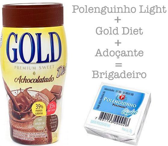 Brigadeiro DIET OBS: Vale trocar o Dold Diet por Cacau em pó! :D