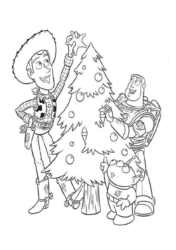 Dibujo Toy Story En Navidad Dibujo Navidad Para Colorear Toy Story Para Colorear Páginas Para Colorear Disney