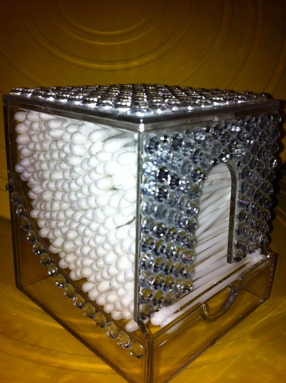 Bling Qtip Holder Beautiful Very Classy Glamour And