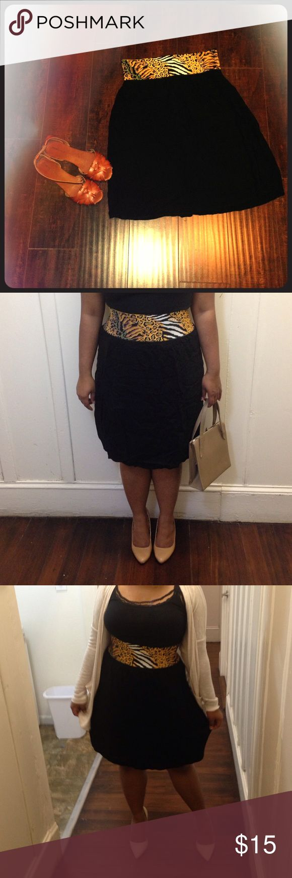 Black tribal print skirt. Print tribal belt area has a stretch material that extenuates your waist. Judy Knapp California is a 80 vintage label. Judy Knapp California Skirts Circle & Skater
