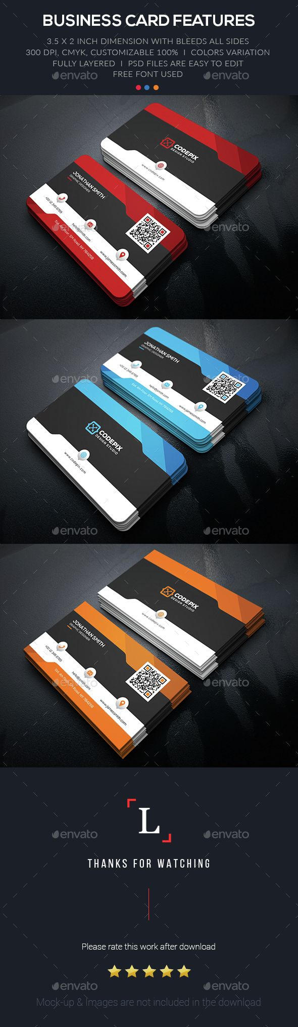 Corporate Business Card — Photoshop PSD #corporate #web • Available here → https://graphicriver.net/item/corporate-business-card/15300042?ref=pxcr
