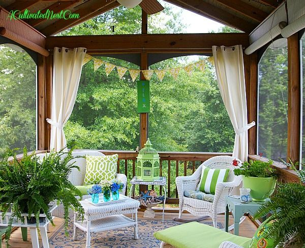 Join Me In The Screened Porch - One of these days I want to have a screened in porch, and this is how I want it to look! Love it!