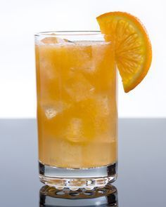 Bocce Ball - Ameretto, Vodka, Orange Juice...add an orange slice and cinnamon rim for something extra