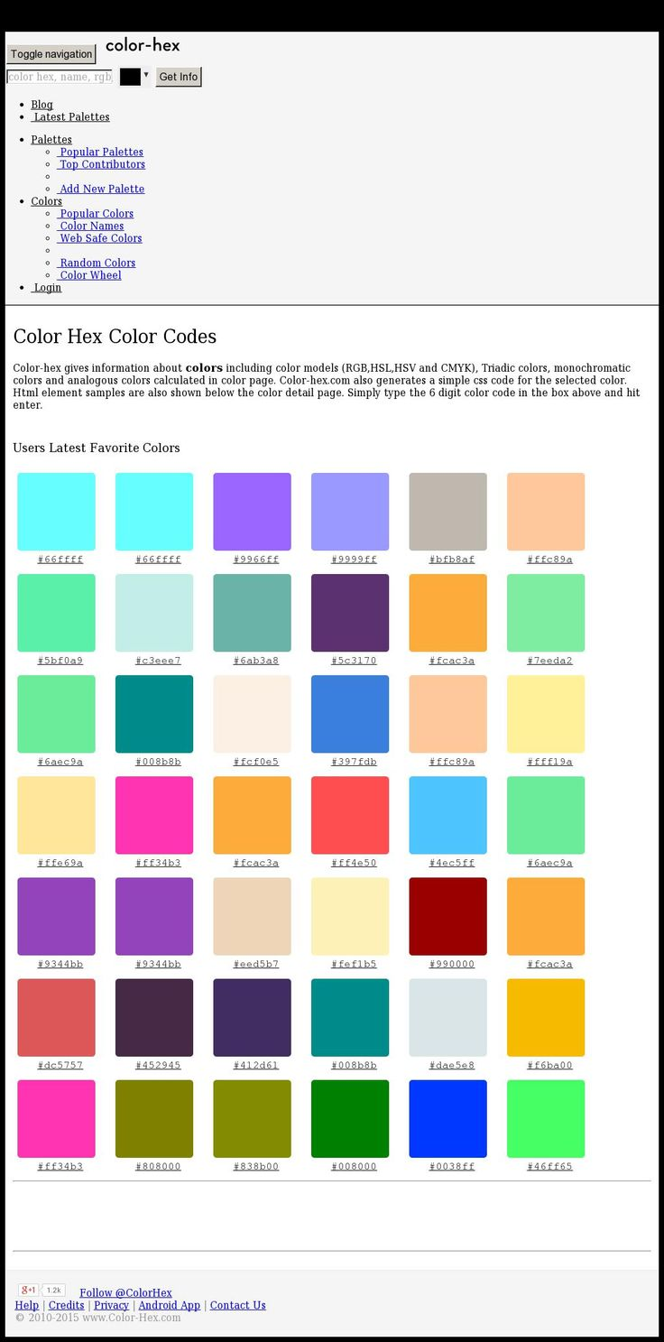 Random colors website - The Website Http Www Color Hex Com