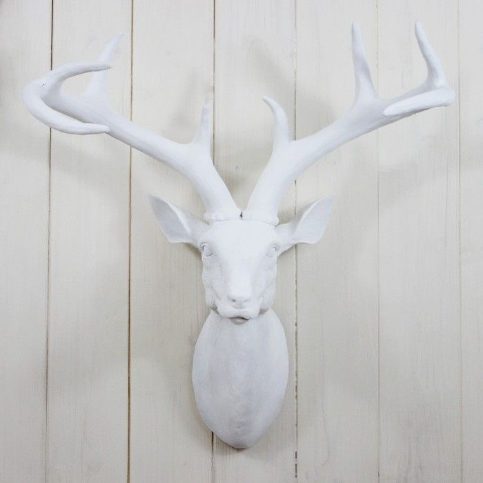 Large White Stags Head