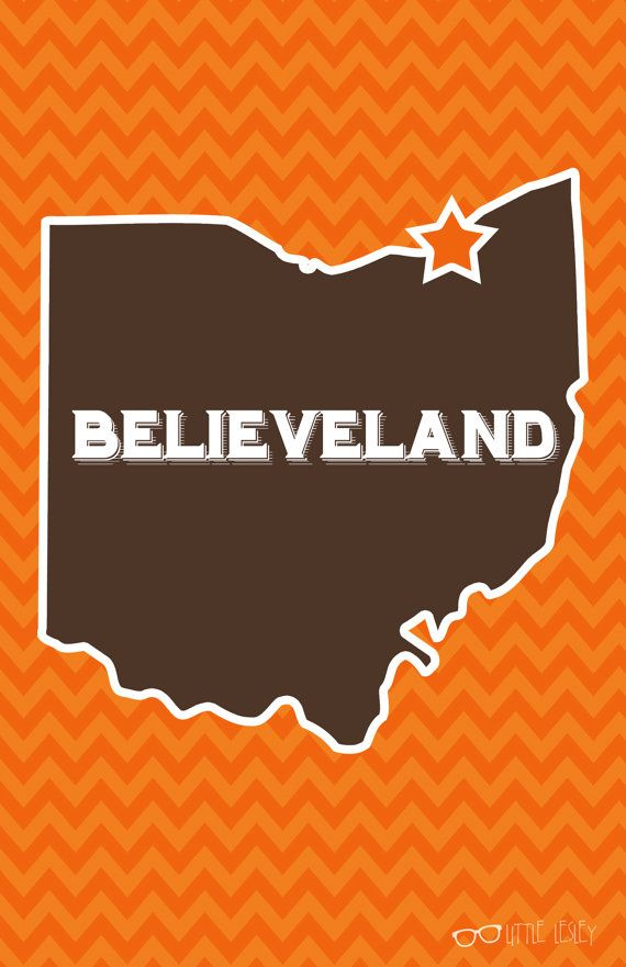 Believeland  CLE Poster by LittleLesley on Etsy, $15.00 #littlelesley #believeland #cleveland