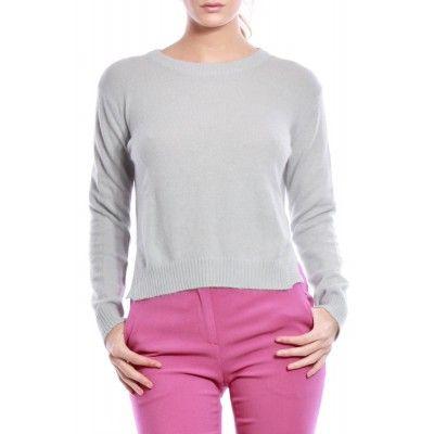 Bruuns Bazaar - Sigrid Angora Sweater Grey - Kotyr.com