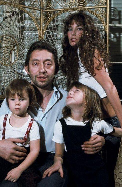 Serge Gainsbourg, Jane Birkin, Charlotte Gainsbourg & Kate Barry