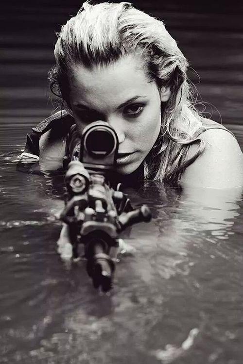 pinterest.com/fra411 #girl #Sniper
