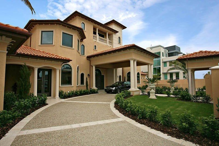 Driveway portico dream home pinterest driveways for House plans with circular driveway