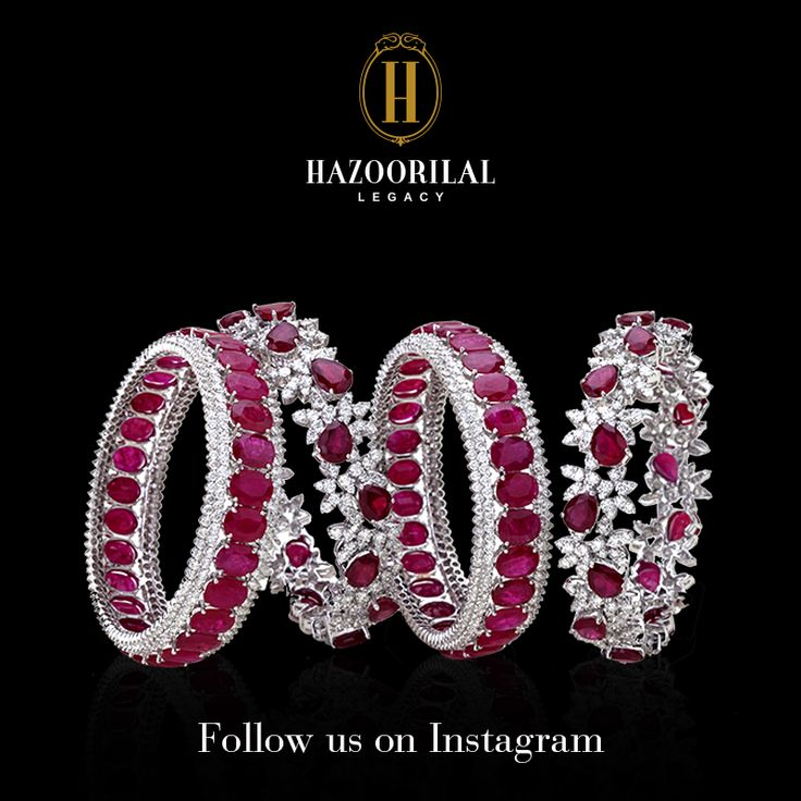 Treat yourself to stunning #HazoorilalLegacy jewels, at D6 South Extension Part 2. Follow us on Instagram for sparkling updates:  http://instagram.com/hazoorilallegacy  #Hazoorilal #Jewelry #Ruby #Diamond #Bangles