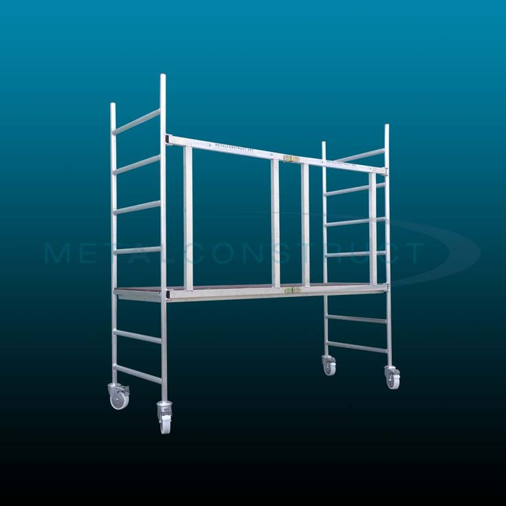 Light-weight collapsible aluminium scaffolding system
