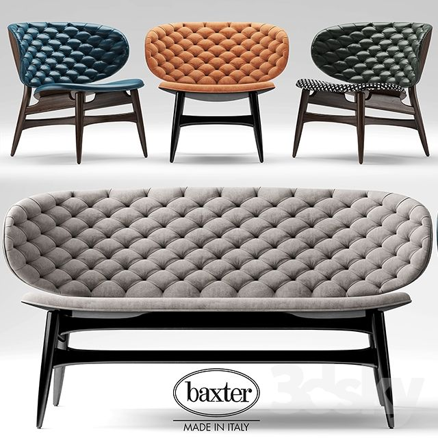 Sofa and chair baxter DALMA