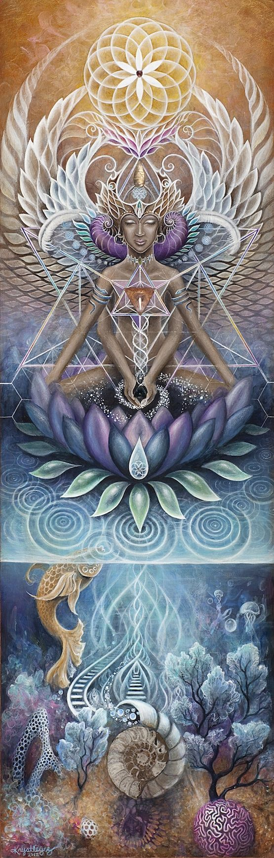 "She has but doesn't possess,acts but doesn't expect.She who is Earth and Her people are the same.We mend and weave the web of Life together. May the Great Mother continue blessing us all and calling us back to Life.  - Art: ""Luminessence"""