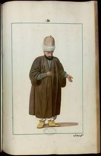 Dervish-Ethemi,Recueil de costumes et vêtements de l'Empire ottoman au 18e siècle-Monnier, Joseph Gabriel (1745-1818 ; colonel du génie) Gallica,BnF