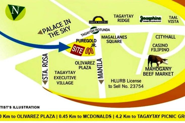 It is in Cityland Prime Residences, corner of Tagaytay Rotunda and beside Olivarez commercial center along Aguinaldo Highway.     Here is a more detailed direction via SLEX:    DIRECTION:   Via SLEX, exit Sta Rosa toll gate. Just follow the main road, passing thru Nuvali, until you reach Silang. Again, follow the main road of Silang until you reach Tagaytay junction, then turn right to Tagaytay-Calamba Road. You will see Cityland Tagaytay to your right just before reaching Tagaytay Rotunda.