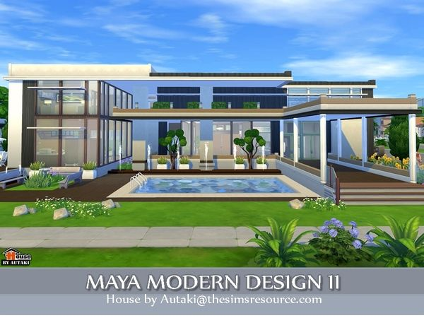 maya modern design 2 by autaki at tsr via sims 4 updates - Sims 4 Home Design 2