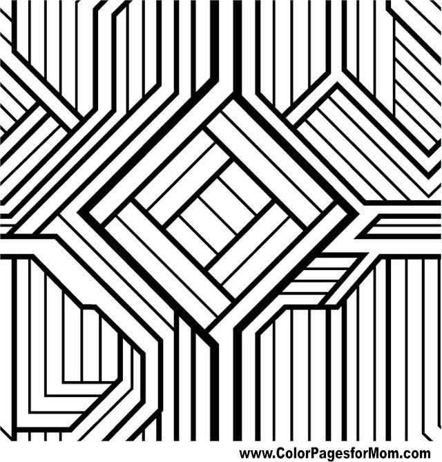 advanced coloring pages for adults geometric coloring page - Coloring Pages Designs Shapes