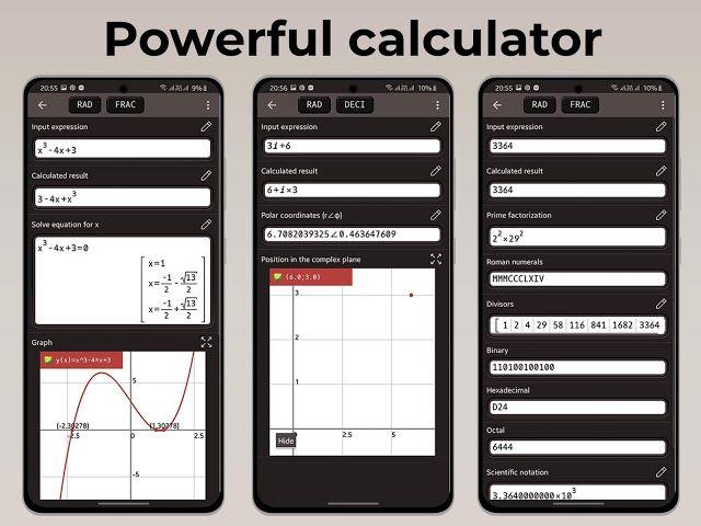 تنزيل تطبيق الآلة الحاسبة العلمية للرسوم البيانية Graphing Calculator Plus 84 Graph Emulator Free 83 Prem Complex Plane Prime Factorization Graphing Calculator