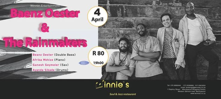 live at winnies soul and Jazz book your table now...