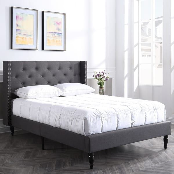Classic Brands Bedford Upholstered Platform Bed Frame In 2020