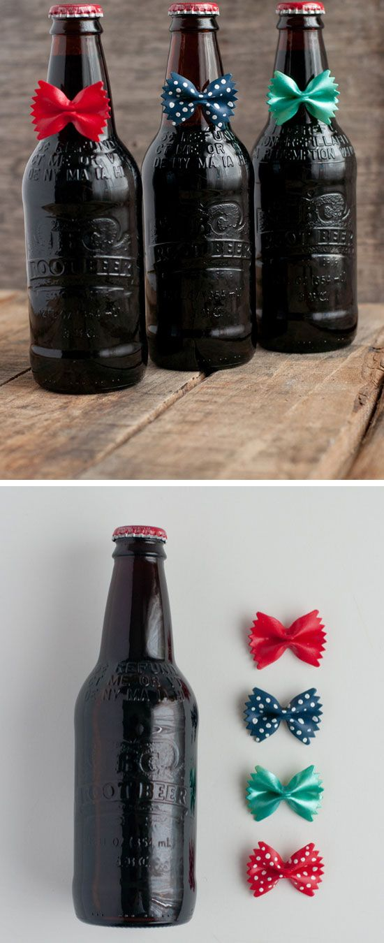 Bow Tie Root Beer for Dad | Click Pic for 18 DIY Fathers Day Crafts for Kids to Make | Homemade Fathers Day Crafts for Toddlers to Make