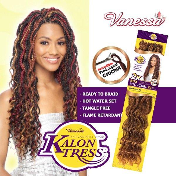 Vanessa Crochet Braid 2x African Arts Kalontress Body Curl 24 Inch