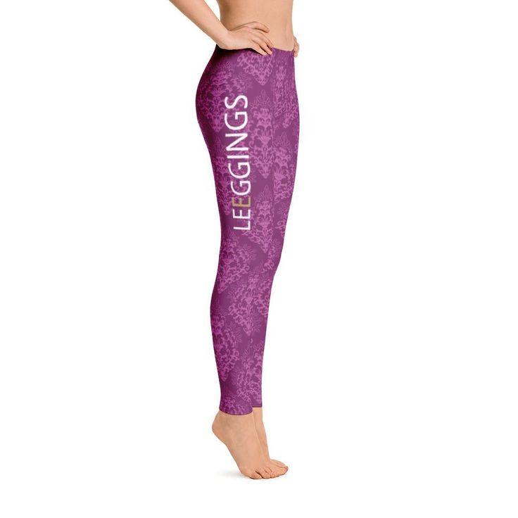 Distinctive Purple Branded Leggings
