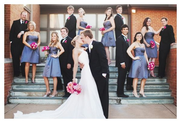 I like creative poses for wedding party besides a straight line. #nifty