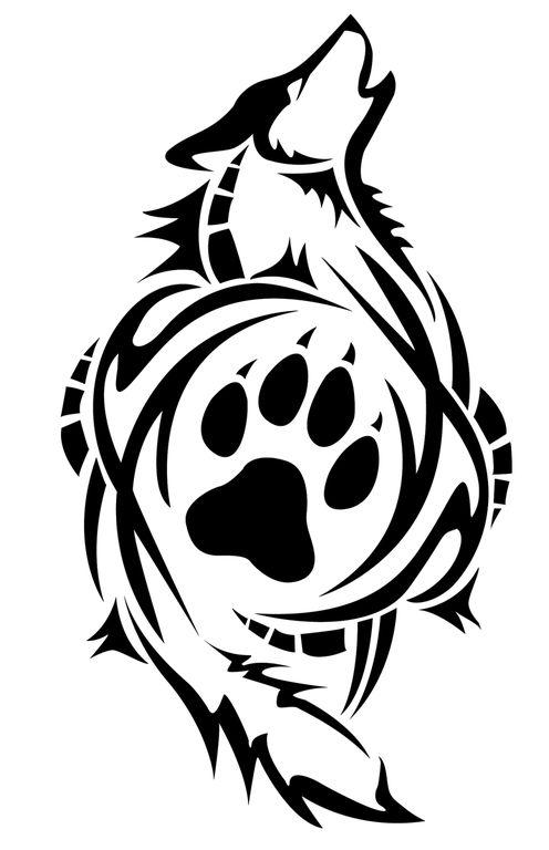Wolf carving from http://satoshisdarkchan.deviantart.com/art/Tribal-Wolf-Carving-183059558