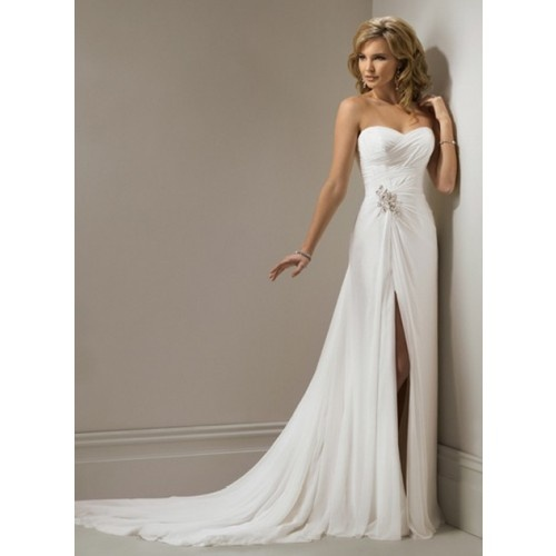 chiffon 2012 high quality wedding dress informal mermaid